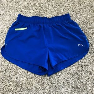 Puma Blue Athletic Shorts